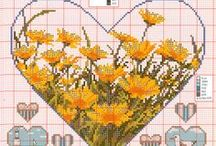cross stitch hearts / by Marcia Myers-Knoles