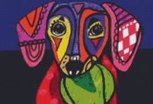 Cross stitch dogs / by Marcia Myers-Knoles