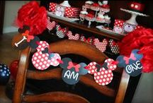 Mickey / Minnie Mouse Party Ideas  / by Kara Abrahamsen Lillian Hope Designs