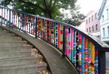 YARN BOMBS! / yarn bombing / by Alyssa Viveros