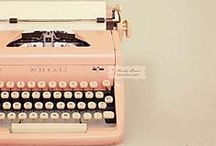 """Forgotten Typewriters  / """"There is nothing to writing. All you do is sit down at a typewriter and bleed."""" - Ernest Hemingway  / by Sarah"""