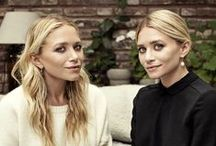 The Olsen Twins Fashion! /  This two twins are known for their fashion & they even have their own clothing line called the Row! / by Heidi Vizuete