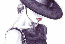 "High Fashion Art Drawing / ""For people who love runway fashion & art"" / by Heidi Vizuete"