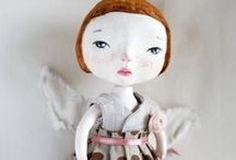 CREATURE COMFORTS..Art for the child at heart. / Felted, stuffed, molded, stitched beauty.  / by Linda Connell