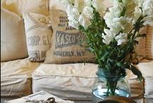 Rustic Romance Home / Bedroom, Dining Room, Living Room, Farmhouse, Shabby Chic, Cottage, Mirrors, Shelves, Baskets / by Bohème Market | Cheryl Ann