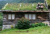 green homes / cob houses, earthships, wooden house, stone house, eco living / by Eldem Kirlar