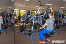 Workout Wednesday: The Core / These four strength equipment exercises — the one-arm chest press, one-arm pulldown and one-arm shoulder press — focus on improving your core. / by Precor
