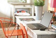 Workspaces / by Sarah @ Cozy.Cottage.Cute.