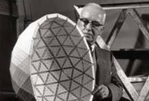 "R. Buckminster Fuller / ""I just invent, then wait until man comes around to needing what I've invented."" -R. Buckminster Fuller / by Katy Osterwald"