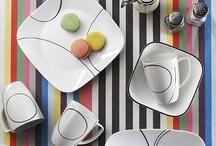 Inspired By... Black & White / Black & white theme, inspired by some of our black & white patterns, such as Simple Lines / by Corelle Dining