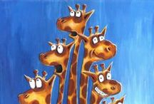 Giraffe's / I love Giraffe's...Their beautiful eyes, their grace, how majestic they are.  I've collected them for several years.   / by Joyce Dupont