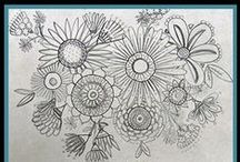Doodling Around - Zentangle & More... / I'm an avid Doodler, it helps in my Art Journaling, Letter-Writing, & accents for handmade gift items & these are some finds that I adore. / by Creatique Candy