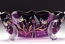 GLASS! / Fenton, perfume bottles, sculpture, etc... / by Tisa Douglas