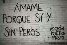 Pinta mi mundo!  / Letras en paredes! Amor, felicidad, vida, sólo letras.  / by Luna Garcia