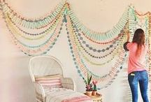 bunting, garland, & crepe paper / by Jessica Cahoon / fort & field