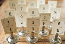 table numbers & holders/escort & place cards / fort & field has a wide selection of table numbers and holders as well as escort and place cards available to purchase here: http://www.fortandfield.com/table-numbers-holders_c_164.html / by Jessica Cahoon / fort & field