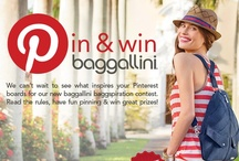 baggallini baggspiration contest / 8 weeks of baggallini baggspiration pin & win contest! We can't wait to see what inspires your baggspiration board, simply build a board with baggallini bag spring styles, the rules and pin anything else that makes you think of baggallini style, beauty & order. Keep in mind when pinning…we're thoughtfully organized, inspired by smart details, use function that life requires with elements of style. Read the rules, have fun pinning & win great prizes! visit baggallini-sweepstakes.com / by baggallini
