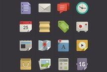 Digital   Flat Icons / by Justin Graham