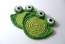 CROCHET KRAZY~Coasters, Cup Cozies / by Donna Medley