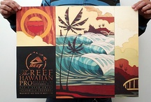 Surf Art Contest Posters / Surf art has been used in professional surfing contests since they began, and increasingly so in recent history by surf industry brands. Here are some of our favourites... / by Club Of The Waves
