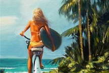 Surf Art / Amazing surf art by surf artists featured on: www.clubofthewaves.com/surf-artist/ / by Club Of The Waves