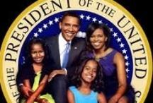 Barack, Michelle, Sasha and Melia / by Shirley Simon