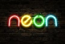 nEoN ☮k☮ NeOn  / Neon is a chemical element with symbol Ne and atomic number 10. It is in group 18 of the periodic table. Neon is a colorless, odorless monatomic gas under standard conditions, with about two-thirds the density of air.  #neon  ☮k☮  / by Kenneth Linge