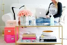 HOME OFFICE / home office inspiration / by What's Gaby Cooking