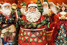 My ❤️ Santa ❤️ Collection / Love collecting my Santas / by Linda Fields