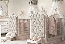 French Inspired nursery for a little Prince or Princess! / Lots of drapery, royal/castle theme, maybe completely white from top to bottom with some cream and gold? / by Shawna Terrick