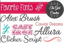 Fonts / by Anna Lawson