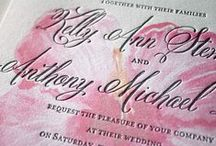 letterpress invitations / Elegant letterpress invitations for weddings, birthdays, and fabulous events! Letterpress printing is impressed in 100% pearl white cotton cards. Customizable letterpress designs. / by michelle mospens