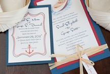 nautical wedding | sarah / Nautical Wedding Ideas. Poppy Red paired with rich Navy Blue creates a classic and seaworthy color scheme. Inspiration and designs for clients Sarah + George. / by michelle mospens