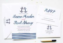 nautical wedding / Unique Nautical Wedding Ideas by Michelle Mospens. Nautical navy blue creates the perfect preppy nautical wedding theme. / by michelle mospens