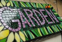 Garden Mosaics / Feeling inspired to create a mosaic?  Use PromoCode PIN5 to save 5% off all of your handcut, stained glass tiles at www.MosaicTileMania.com. / by Mosaic Tile Mania