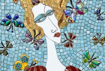Mosaic Butterflies / Feeling inspired to create a mosaic?  Use PromoCode PIN5 to save 5% off all of your handcut, stained glass tiles at www.MosaicTileMania.com. / by Mosaic Tile Mania