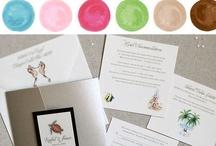 beach wedding | rachel / Beach Wedding Ideas. Soft ocean hues. Watercolor seaworthy motifs. Inspiration and designs for clients Rachel + Shawn. / by michelle mospens