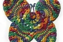 Croche III flowers / Trabalhos manuais / by Georgete Keszler Chait