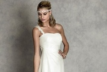 Destination Wedding Gowns / Light and pretty wedding gowns that are perfect for summer weddings, outdoor weddings, and beach weddings! Brides looking for a simple style will love these wedding gowns from OuterInner.com. They're less expensive than regular wedding gowns, and available in many flattering styles! / by OuterInner.com | Dresses, Bridal Wear, Weddings & More!