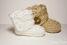 crochet: shoes, booties etc/ free  / by Amy Woods