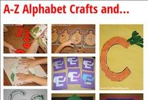 """Education: Letter Activities / This board is devoted to any and all activities relating to the alphabet, including handprint art, letter recognition, alphabet sensory bins, handwriting and more. Check out my other """"Education"""" and """"Summer School"""" boards for more inspiration. / by Meghan Karson"""