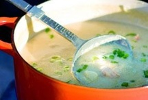 Soup for the Soul / Kind of funny that with all the recipes I go around collecting... I could live on soup!  There are so many different kinds, flavors, textures... you can never be bored. It's my favorite comfort food.. period. / by Danielle Anderson