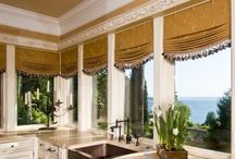 Window Treatments RELAXED ROMAN / Custom Relaxed Soft Shade (smile) design ideas / by Danielle Anderson