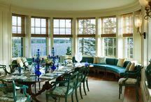 Window Treatments BAY, BOWED, CURVES / Custom window treatments for bay, bowed and curved windows. / by Danielle Anderson