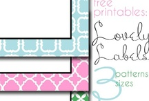 Free printables (Fonts, invites, artwork, etc) / by Kari Corbett