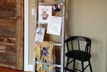 Antiqued Display Ladder / Create this charming Antiqued Display Ladder yourself using Rockwell Tools / by Rockwell Tools