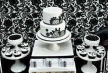 Black & White / Start to finish party planning ideas for a black & white themed  birthday party, bridal shower, dinner party, wedding and beyond! / by Punchbowl
