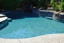 Pool Remodeling / Make you pool new again! Add new tile, energy saving equipment and a pebble finish. Your pool will sparkle and you will save money on your energy bill. / by Jim Chandler