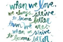 It wasn't just words / I'm a lover of words. / by Jennifer Bilton