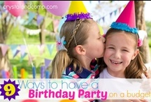 Birthday Party Ideas / Who doesn't love birthday parties? Let's pin mommy solutions to make it less stressful!  / by Crystal (www.crystalandcomp.com)